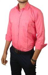Awasheswar Cotton Mix Men's formal Plain Shirt, Handwash