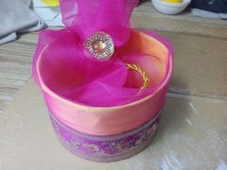 Gifting Box with Floral Ribbon