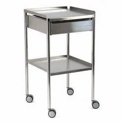 Heavy Stainless Steel Hospital Trolley, Load Capacity: 0-50 Kg