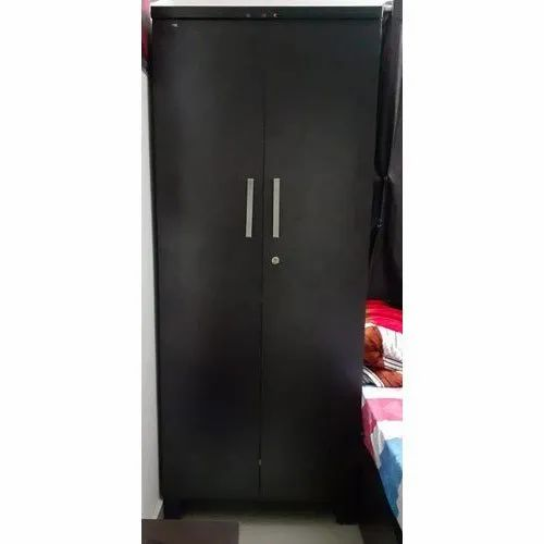 Black Double Door Wooden Wardrobe