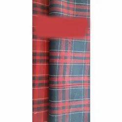 Gustrow Cotton Check Shirting Fabric, 130 Gsm