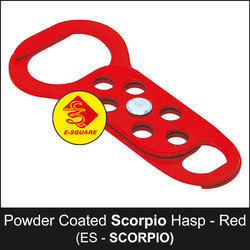 Powder Coated Red Scorpio Lockout Tagout Hasp
