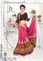 Shivam Color Printed Less Border Saree