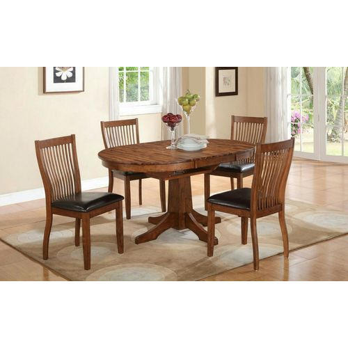 4 Chair Oval Dining Table Set