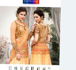 Rangras Vintage Collection Saptrangi Series 701-707 Stylish Party Wear Gown- lehenga