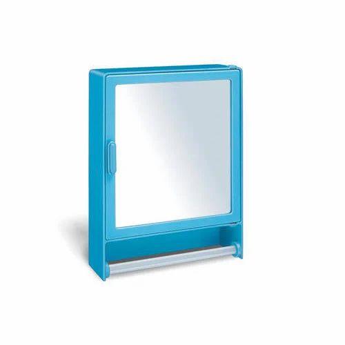 rectangle blue plastic mirror cabinet dimensions 16 x 4 x 12 inch rh indiamart com