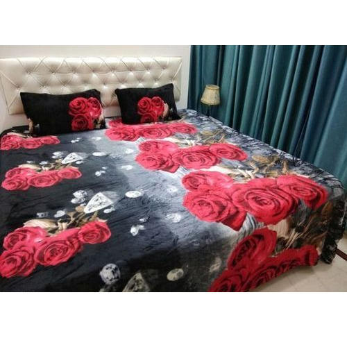 Lovely Printed Flower Print Flannel Bedsheets