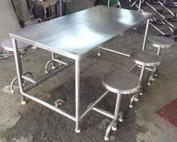 SS Canteen Table with Six Seater