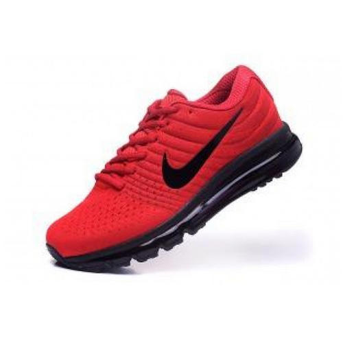 7b5cadaca98 Red And Black Nike Air Max 2017 Red Black The Air Cushion Shoes ...