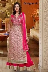 Ladies Mirror Stone Work Party Palazzo Pink Suits