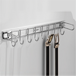 Stainless Steel Hook Rail Pull Out, Chrome Plus