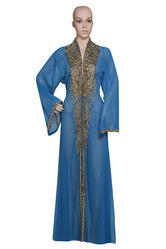 Embroidered Muslim Wedding Dress Khaleeji Thobe