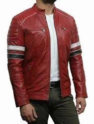 Full Sleeve Casual Jackets Men's Leather Jacket