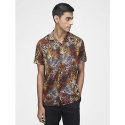 Green Hill Men''s Printed Casual Leapord Shirt