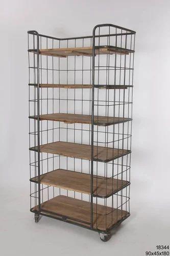 Metal Brown Storage Rack