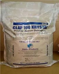 Clap 100 Krystal (Double Action Detergent) for Laundry, Packaging Size: 25kg Bag