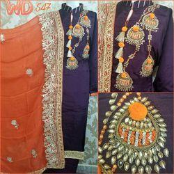 Silk Party Wear Suits W-547