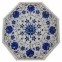 Indian Marble Inlay Table Top , Marble Inlaid Table Top