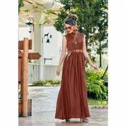 Satin Silk Designer Kurtis