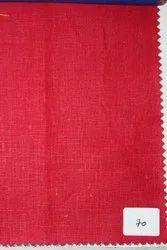 Silk Party Wear Linen Fabric 60 Lea Red