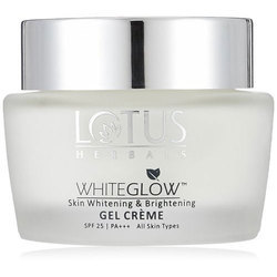 Lotus herbals white glow gel creme, for Personal and Parlour
