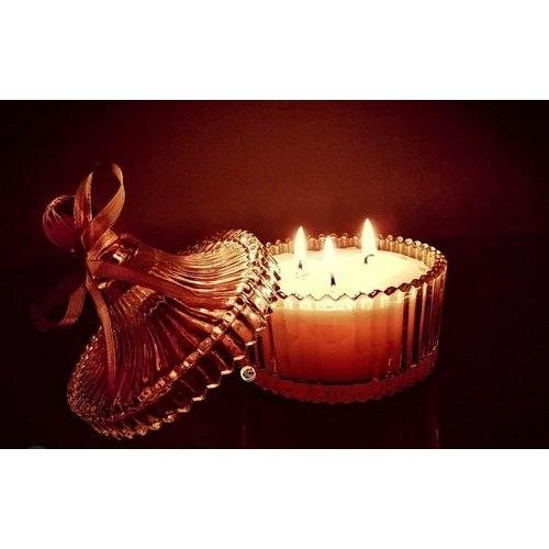 Decorative Wax Candle Glass Jar