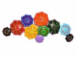 Iron Handmade Handpainted Umbrella Shape Wall Decor Wall Mounted Decorative Item Home Decor