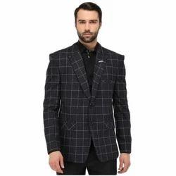 8d7e38ce483a Mens Black Check Print Blazer, Size: 36 To 42, Rs 2500 /piece   ID ...