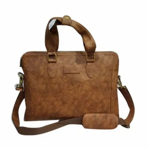 Plain Brown Office Leather Bag