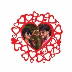 U126 Heart Sublimation Wooden Wall Frame