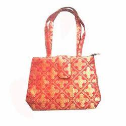 Banarasi Brocade Printed Ladies Bag Brocade