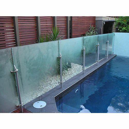 Glass Swimming Pool Railing स व म ग, Glass Swimming Pool India
