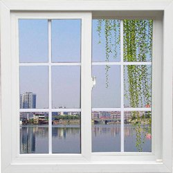 Rudra Tech Building UPVC Sliding Window, Glass Thickness: 6 Mm Clear Toughen Glass