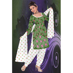 Bandhej Fancy Print Suit