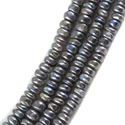 Labradorite Silver Coated Smooth Beads