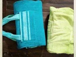 Beach Towel With Print & Pocket