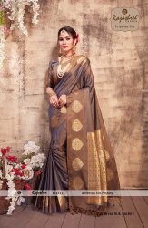 Zari Party Wear Priyanka Silk Saree, 6 m (with Blouse Piece)