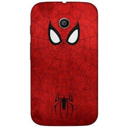 Plastic Red And Black Printed Mobile Back Cover