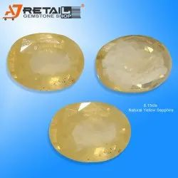 Unheated Untreated Ceylon Yellow Sapphire Pukhraj Certified Buy Gemological Laboratory of India