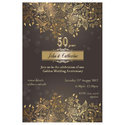 Paper Brown 50 Years Anniversary Invitation Card