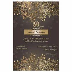 50 Years Anniversary Invitation Card