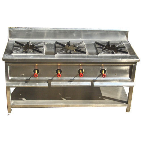 Commercial Stainless Steel Three Burner
