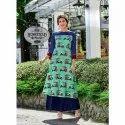 Casual Wear 3/4th Sleeve Ladies Rayon Printed Kurti, Machine wash