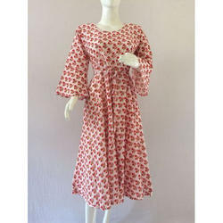 Hand block Rapid printed Cotton Bagru Print Dress