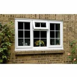 White(Frame) UPVC Combination Window, Glass Thickness: 6 Mm