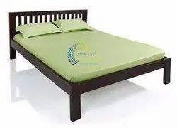 Sheesham Dark Honey Sonar Double Bed, Size: Queen : 60x78 Inches