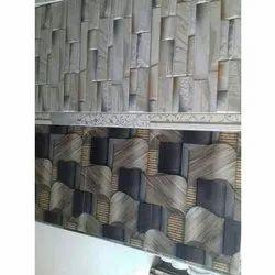 Glossy Rectangular Designer Ceramic Wall Tiles, Thickness: 5-10 mm
