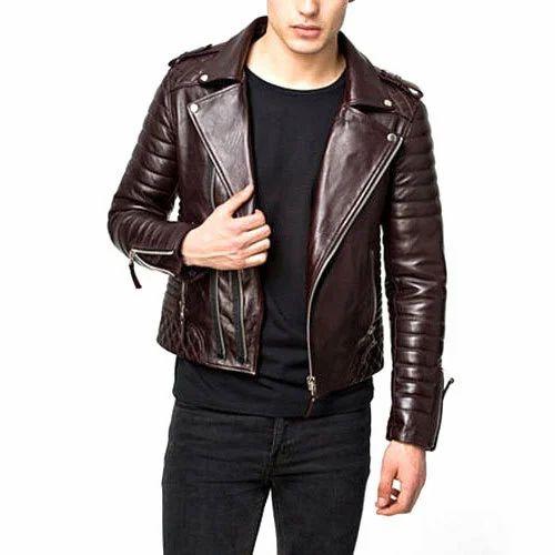 405d3043d Men Biker Leather Jacket