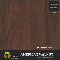 American Walnut Dark Engineered Wooden Flooring