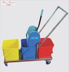 Mop Wringer Trolley 3 Bucket